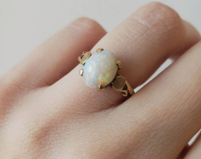 1950's 10k and Opal Ring
