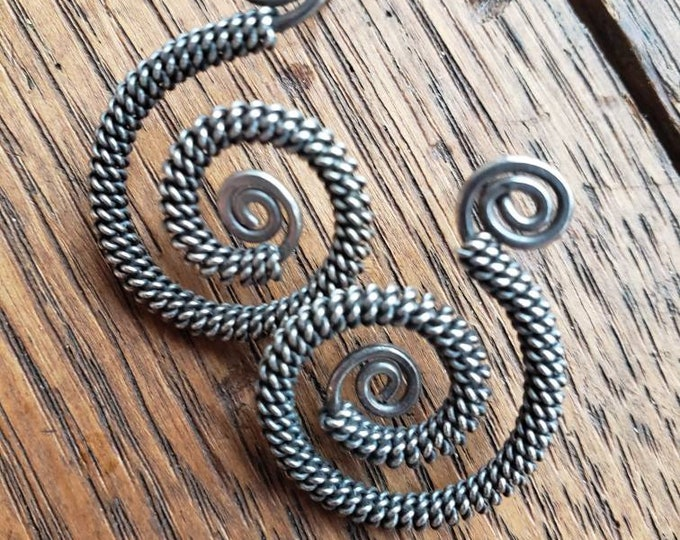 Vintage Sterling Silver Swirl Earrings