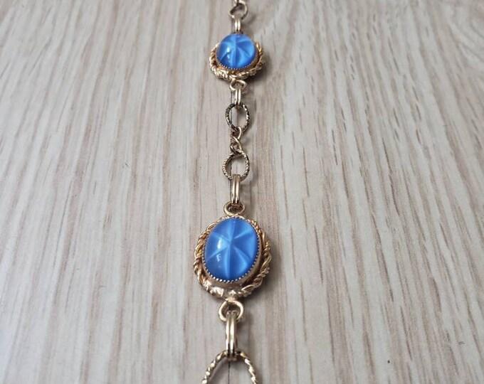 Vintage Periwinkle Faux Star Sapphire Bracelet