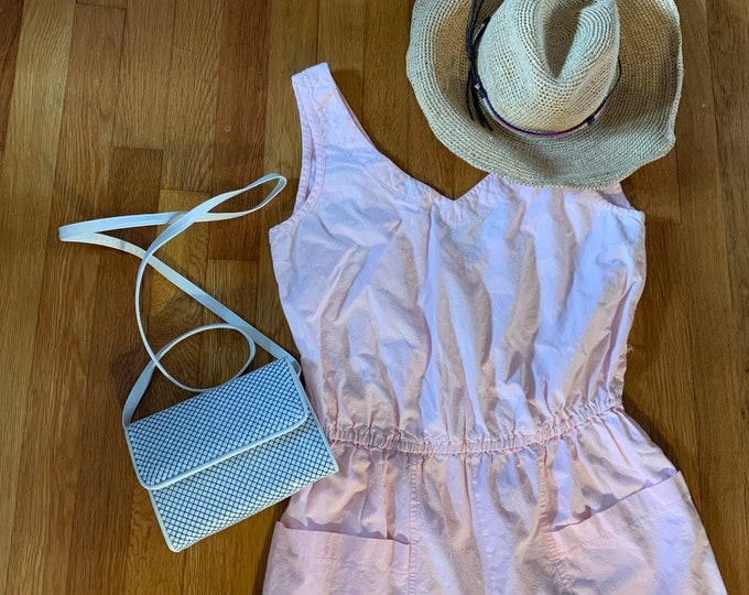 Adorable 90s Sassafras Label Pale Blush Pink Romper w/ white sprinkle detailing.