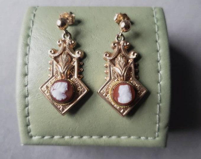 Unique Vintage Cameo Earrings