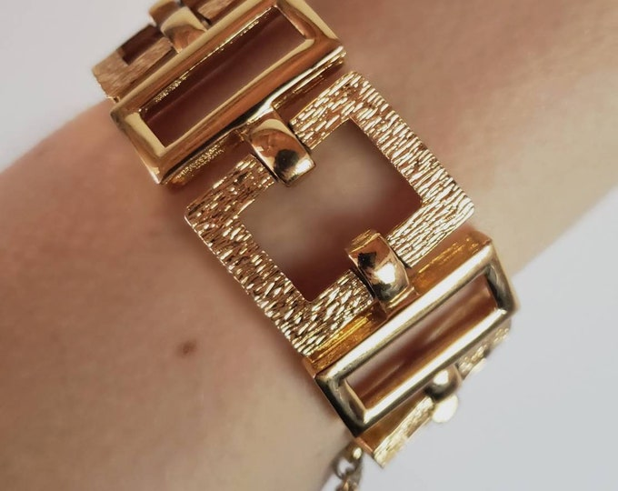 Graphically Rectangular Monet Bracelet