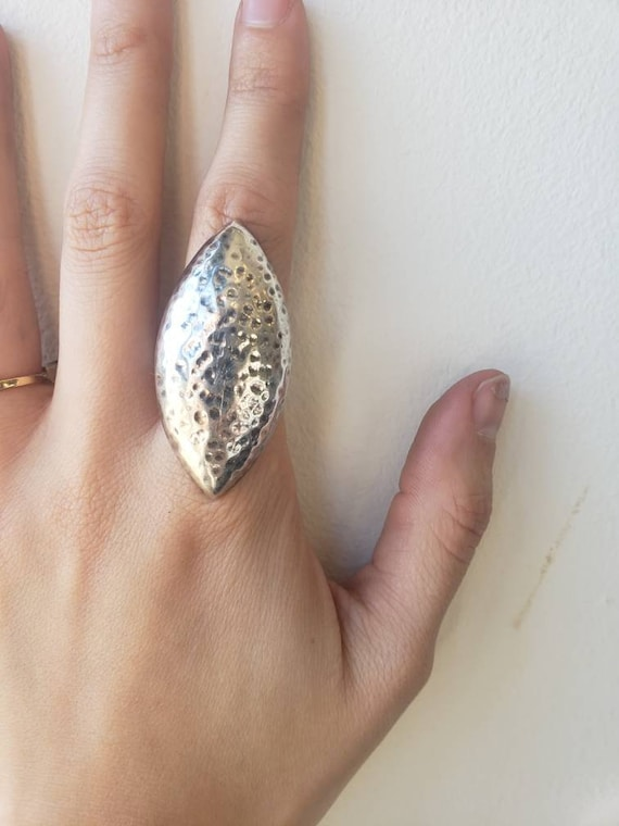 Vintage Mexican Sterling Silver Dimpled Statement