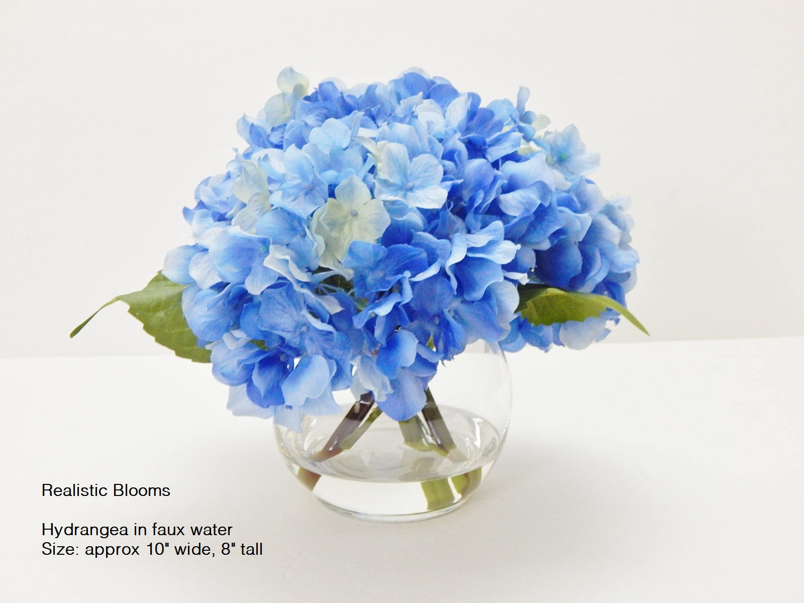 Blue Silk Hydrangea Fauxacrylicillusion Water Real Etsy