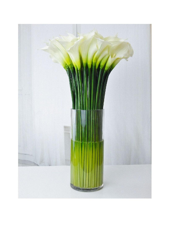 Largetall Silk Modern Floral Arrangement Calla Lilylilies