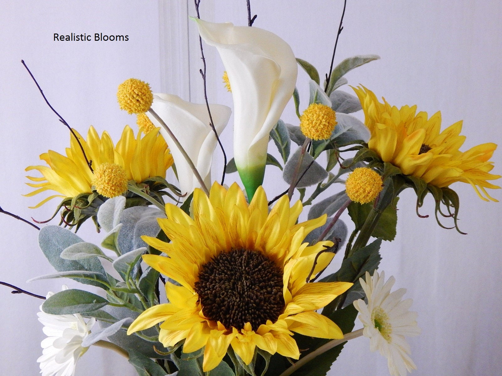 Sunflowers Daisies Lilies Faux Water Acrylicillusion Real