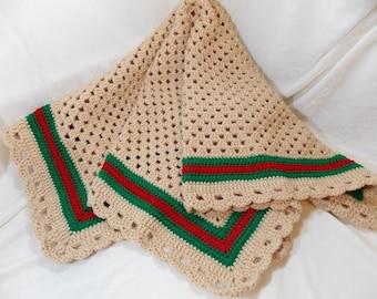 7f844d36810 Crochet Gucci inspired blanket
