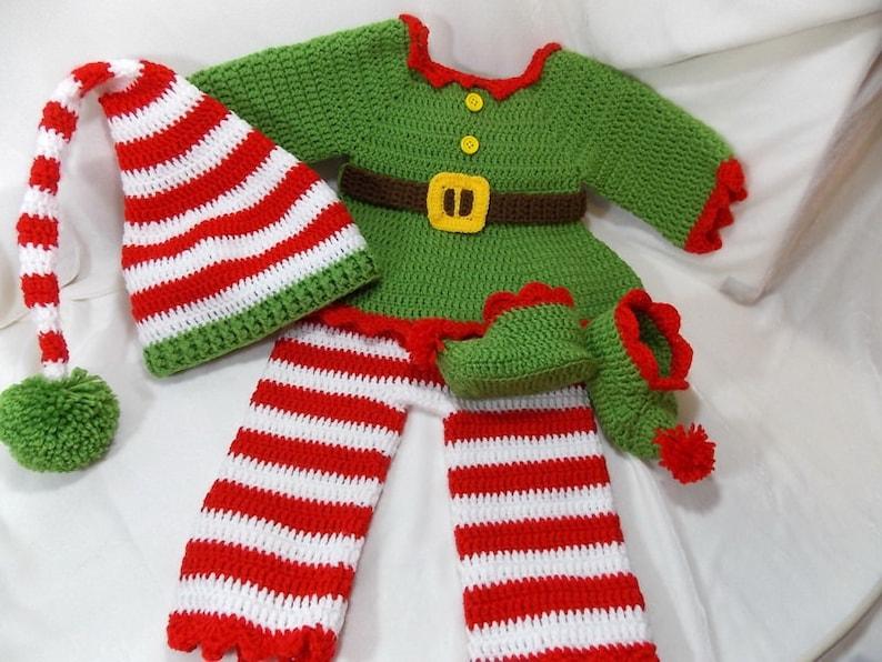 08f03df9b780d Ensemble bébé elfe costume de crochet Elf Elf pour Noël