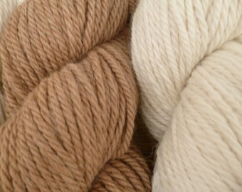 100/% Alpaca 3-Ply Worsted Soft Fawn Lot 9