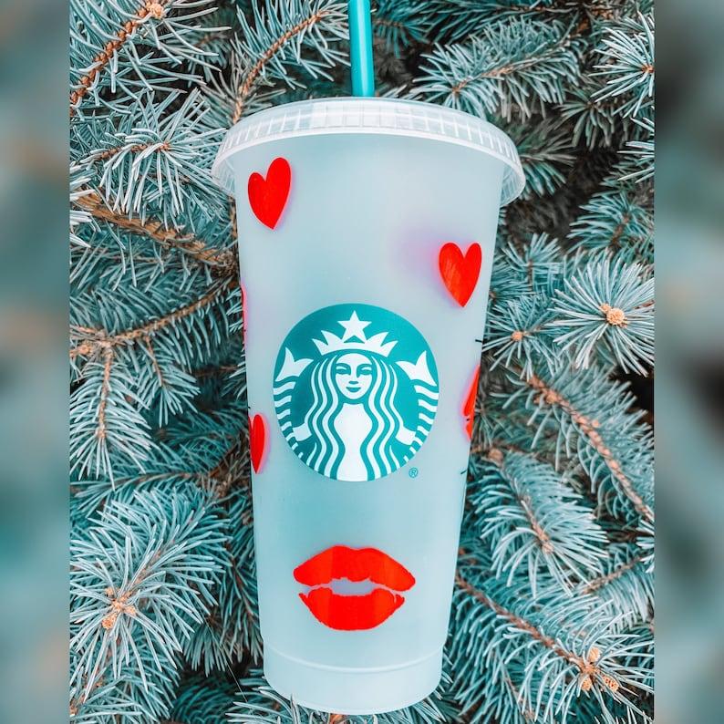 Looney Toons Inspired Character Starbucks Venti Reusable Cold Tumbler \u201cPepe Le Pew\u201d Design