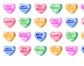 Items Similar To Rude Candy Hearts On Etsy