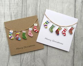 Christmas cards etsy christmas stocking card holiday card xmas card festive card seasons greetings merry christmas christmas cards packkraft card m4hsunfo
