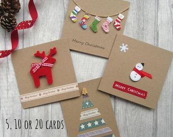 Pack of Christmas Cards, Xmas Card Multipack, Fun & Cute Christmas Card Bundle, Holiday Cards, Festive Cards,