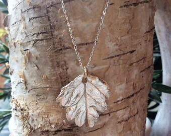 Small Leaf Silver Pendant Handmade