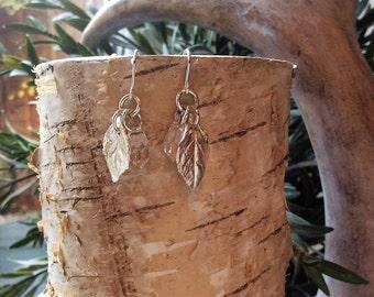 Handmade Fine Silver and Swarovski Crystal Earrings