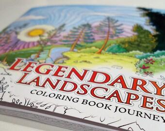 Legendary Landscapes Coloring Book Journey