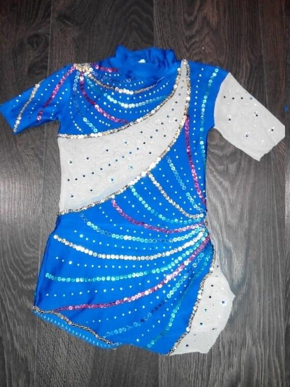 4-7 Year Old, 110-116 cm Custom Made Girls Rhythmic Gymnastic Leotard  新体操レオタード