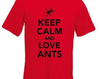 Keep Calm and Love Ants T Shirt