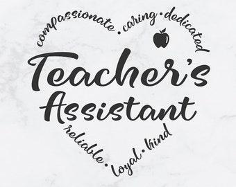 Teacher Aide Svg | Etsy