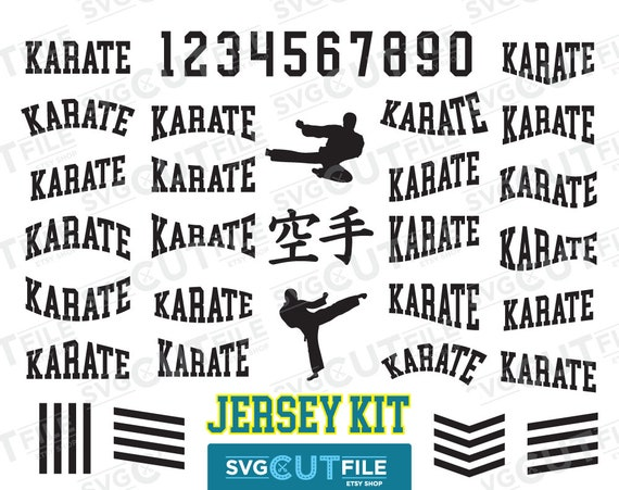 dc5f4e77af47 Karate Team jersey kit svg kid boy girl jump kick Japanese