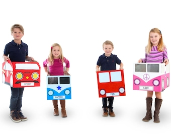 Cardboard Box Car - Personalised Gift - Craft Kit - Unique Gift for Children - Kids Craft Kit - Childrens Birthday Gifts