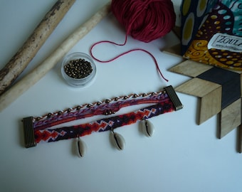 Boho multicolor multi strand bracelet