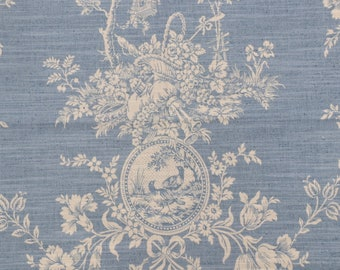 Chambray Country House Toile.Pillowcovers.Slipcovers.Toss pillows.Throw pillows.Cushion covers.Accents.