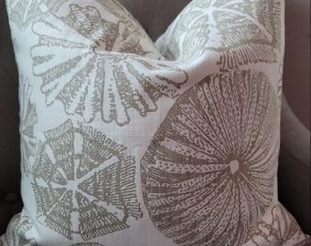 Coastal Taupe pillowcovers.Slipcovers.Toss Pillows. Throw pillows.Lumbar Pillows