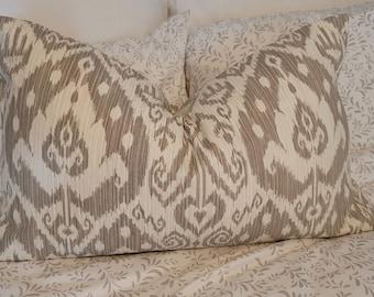 Better Homes IKAT Taupe/Creamy Ivory.Pillowcovers.Slipcovers.Toss Pillows.Throw Pillows. Fall decor. Neurtals