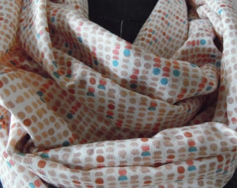 Spring Scarf.Summer Scarf.Infinity Scarf.SCARVES.Circle Scarf.Tube Scarf.Gift For Her.Office Attire.Casual Style scarf