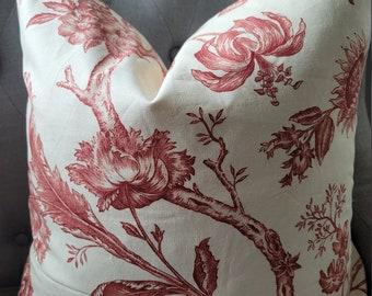 PK Kaufmann Rust/Cream Pillowcovers.EURO.Slipcovers.Toss Pillows.Throw Pillows.Forals