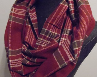 FALL.Winter Flannel Infinity Scaves.Dark Rose.Red.Tuape.White.Gift for Christmas.Gift for Her.Scarf.Scarves.Flannels