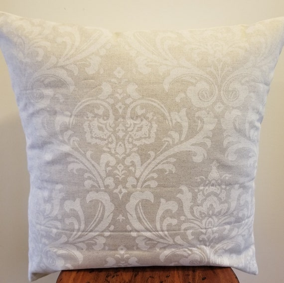 Brown Pillow covers.Damask.Pillowcovers.Slipcovers.Toss Pillows.Throw Pillows.Cushion Covers.Accents.Naturals