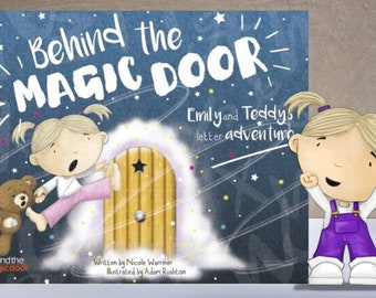 Personalised Children's Book, Behind the Magic Door, Ideal Gift, Baby Gift, Newborn Gift, Keepsake, Story Book, SAME DAY PROCESSING