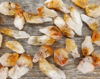 Citrine Crystal Points Small Size 50g