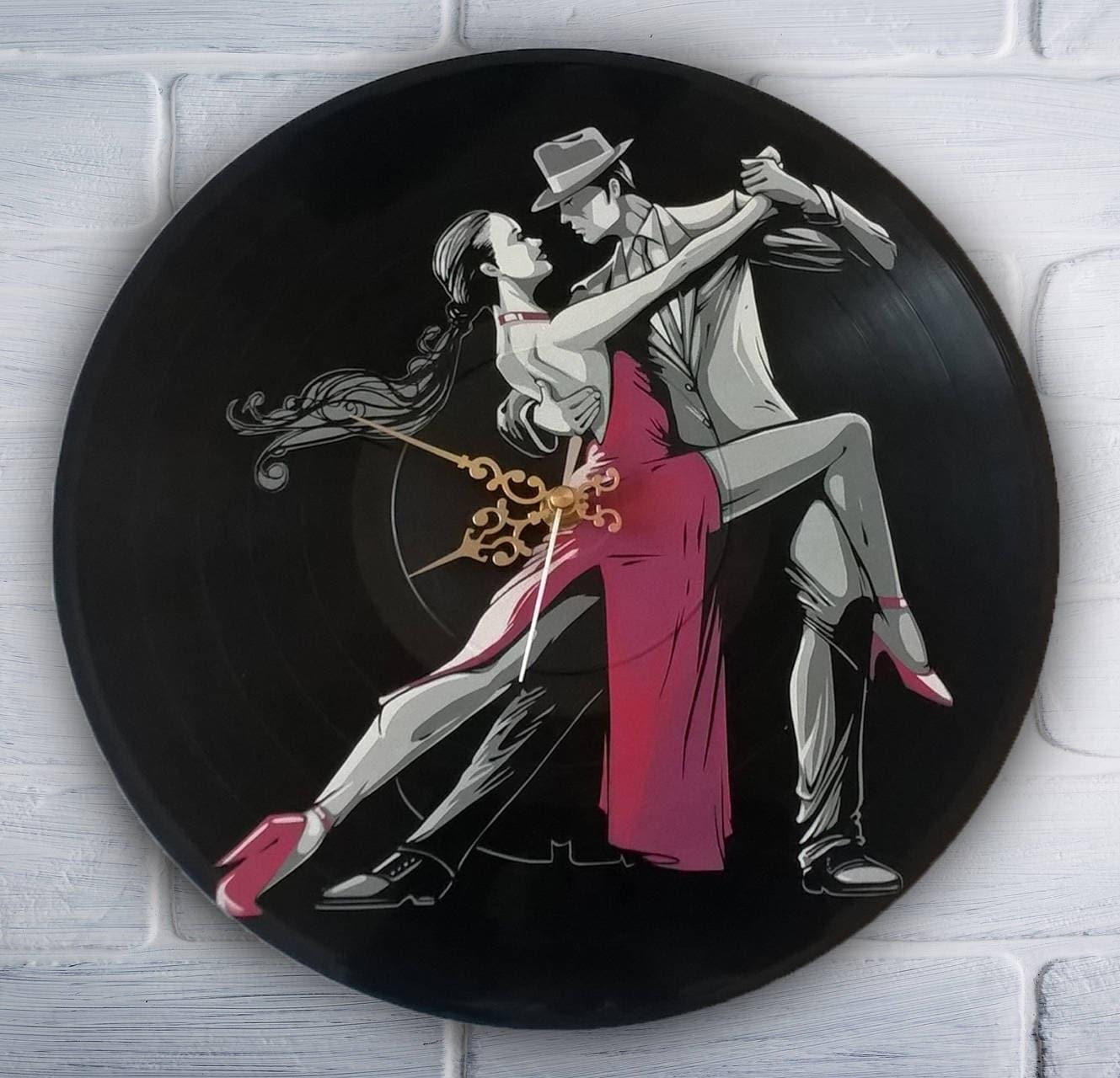 Tango bemalt Vinyl Schallplatte Uhr. Tanz | Etsy