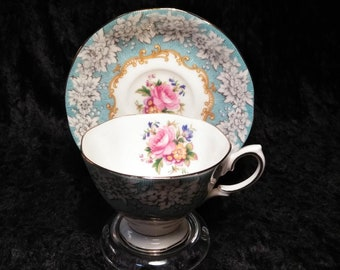 Royal Albert Cup & Saucer bone china Enchantment made in England 1950s
