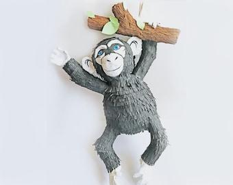Monkey Pinata Monkey Birthday Party Monkey Party Jungle Party Zoo Themed Birthday Jungle First Birthday Zoo First Birthday Jungle Pinata