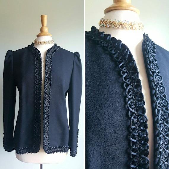 RESERVED | Vintage 1940s fine wool black dress jac