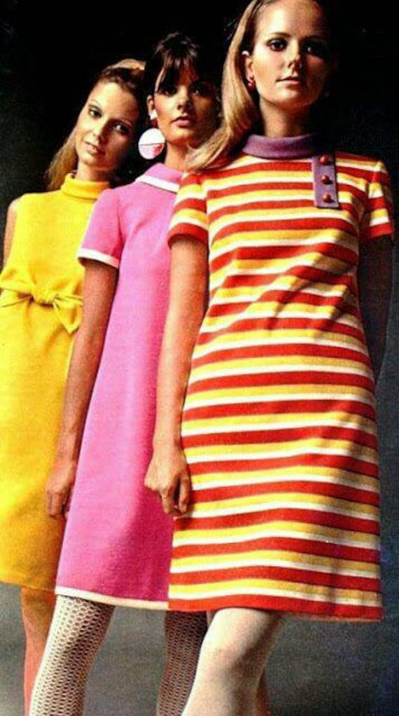 Vintage 1960s 60s pink dress, Peter Pan collar wi… - image 2