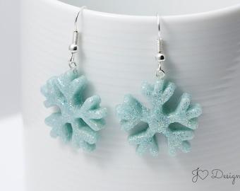 Winter Earrings, Snowflake Earrings, Winter Jewelry, Stocking Stuffer, Christmas Earrings, Holiday Earrings, Novelty Earrings