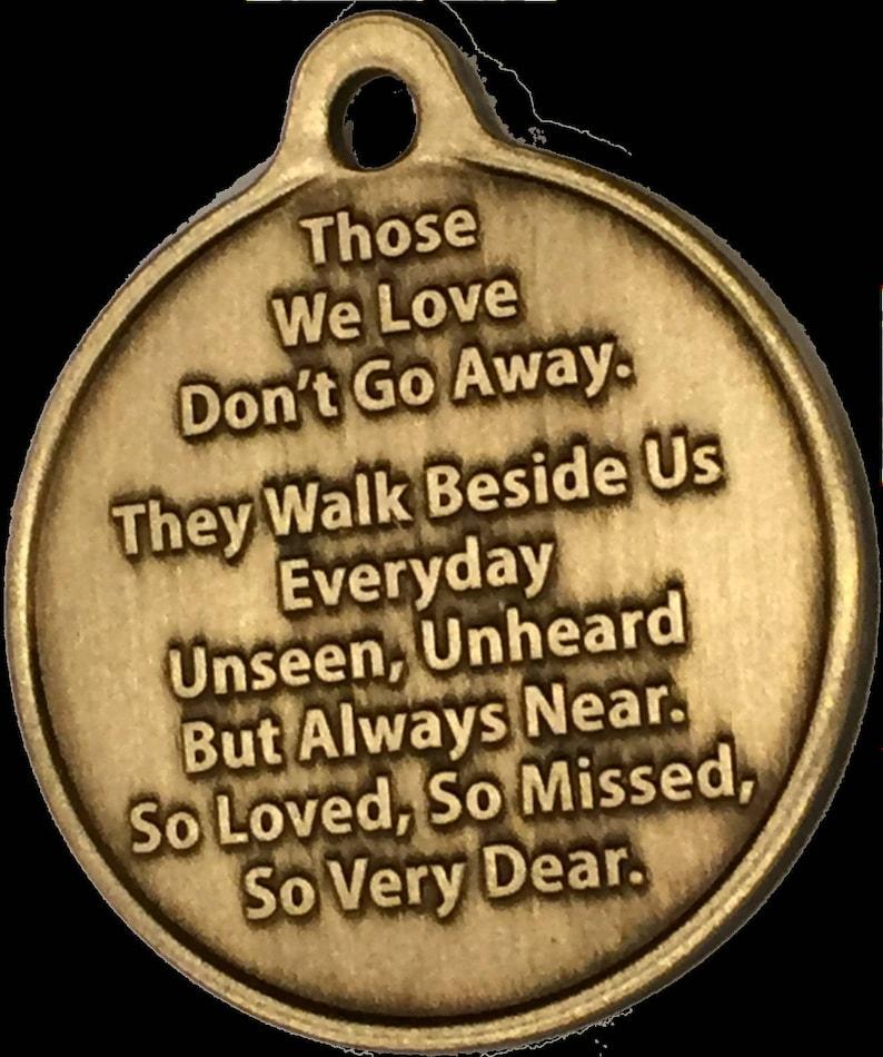 In Loving Memory Cross Rose Memorial Bronze Keychain Gift