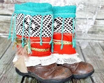 childs embellished boot shrug