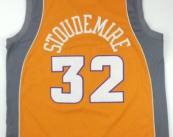 f9bef4dbb93 NIKE Phoenix Suns Amare Stoudemire NBA Orange Sewn Stitched Swingman  Basketball Jersey Size 2XL - steve nash new york knicks cardinals