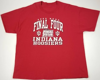 Vintage Indiana Hoosiers 2002 NCAA Final Four in Atlanta Georgia T-shirt  Size 2XL - indianapolis pacers colts streetwear hip hop rap tee ade520753