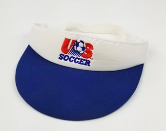 c45dcfe5a5a Vintage 90s Team USA Soccer Visor World Cup Hat Size One Size - fifa futbol  football concacaf champions league mls 1994 1998 uefa donovan