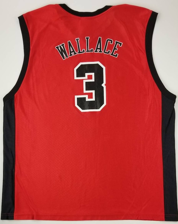 wholesale dealer 8e544 e3b3b Vintage Chicago Bulls, Ben Wallace #3 NBA Red (Away) Basic Polyester  Basketball Jersey Size 2XL - detroit pistons streetwear hip hop rap