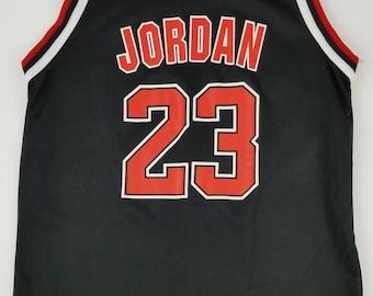 873d2eef12b Vintage 90s Chicago Bulls Michael Jordan (Black) NBA Champion Jersey. Size: Youth  Large (14-16) - Basketball Scottie Pippen Dennins Rodman