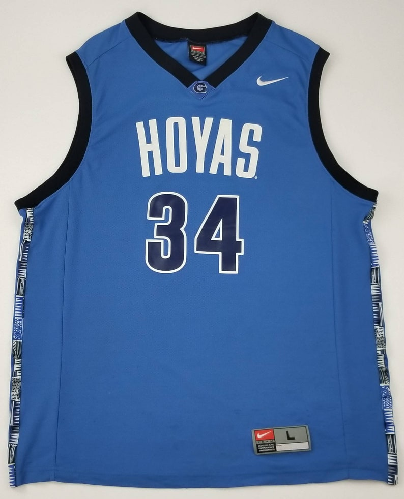 5e8c3be55587 NIKE Georgetown Hoyas 34 NCAA Retro Vintage Style Basketball