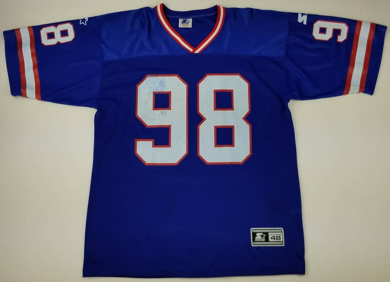 a0b0a812b Vintage 90s New York Giants Jessie Armstead 98 NFL Starter Jersey